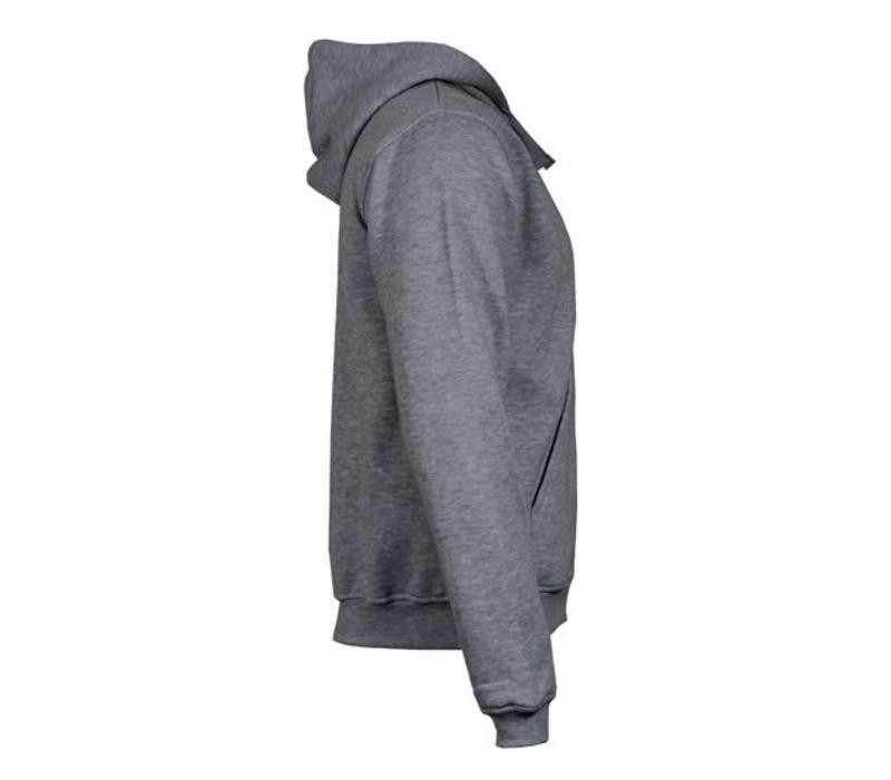 Donnay vest met capuchon - Midden grijs gemêleerd