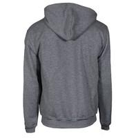 Donnay Sweater met hele rits en capuchon - Midden grijs gemêleerd