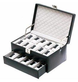 Davidts Uhrenbox 15 Stück Schwarz