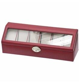Davidts Uhrenbox 6 Stück Rot