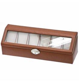 Davidts Uhrenbox 6 Stück Cognac