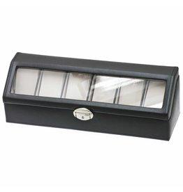 Davidts Uhrenbox 6 Stück Schwarz