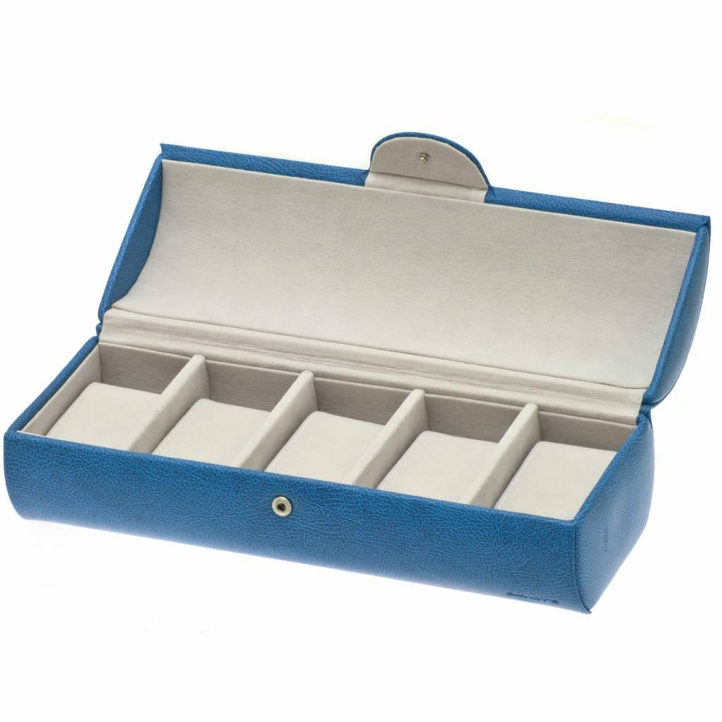 Uhrenbox 5 Stück Blau
