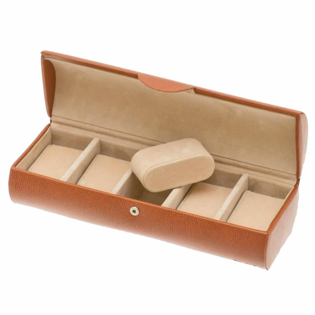 Uhrenbox 5 Stück Cognac