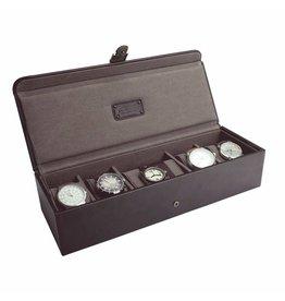 Jacob Jones Boîte de montre marron et kaki 5-6 pcs