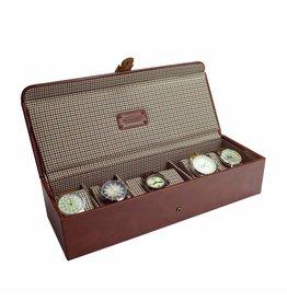 Jacob Jones Boîte de montre Cognac 5-6 pcs