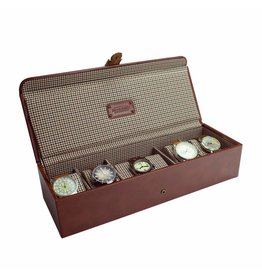 Jacob Jones Uhrenbox Cognac 5-6 Stück