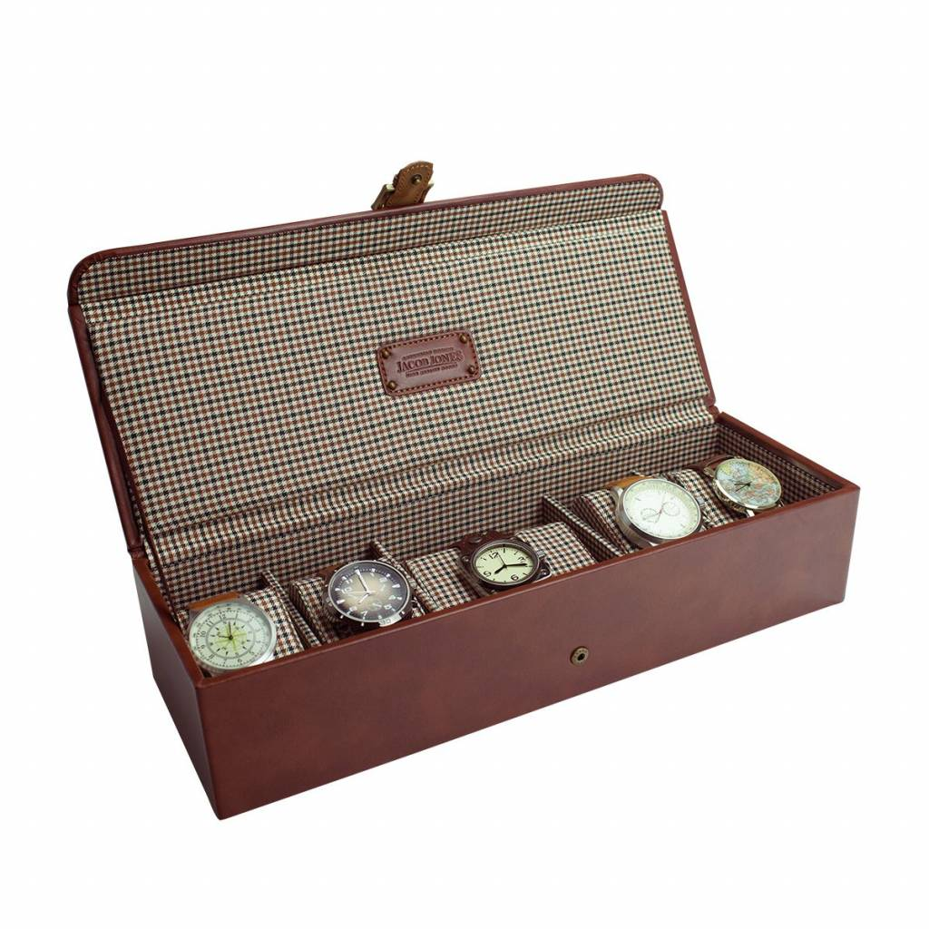 Horlogedoos Cognac 5-6 pcs