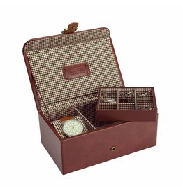 Jacob Jones Horloge-manchetknopendoos cognac