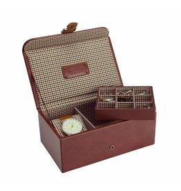 Jacob Jones Horloge-manchetknopendoos cognac