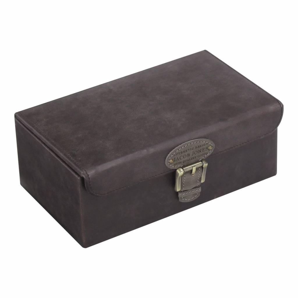 Uhren- Manschettenknöpfebox grau