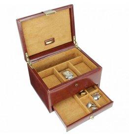 Dulwich Design Boîte de montre en cuir 3 pièces marron