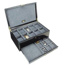 Dulwich Design Boîte de montre en cuir de luxe 10 pcs