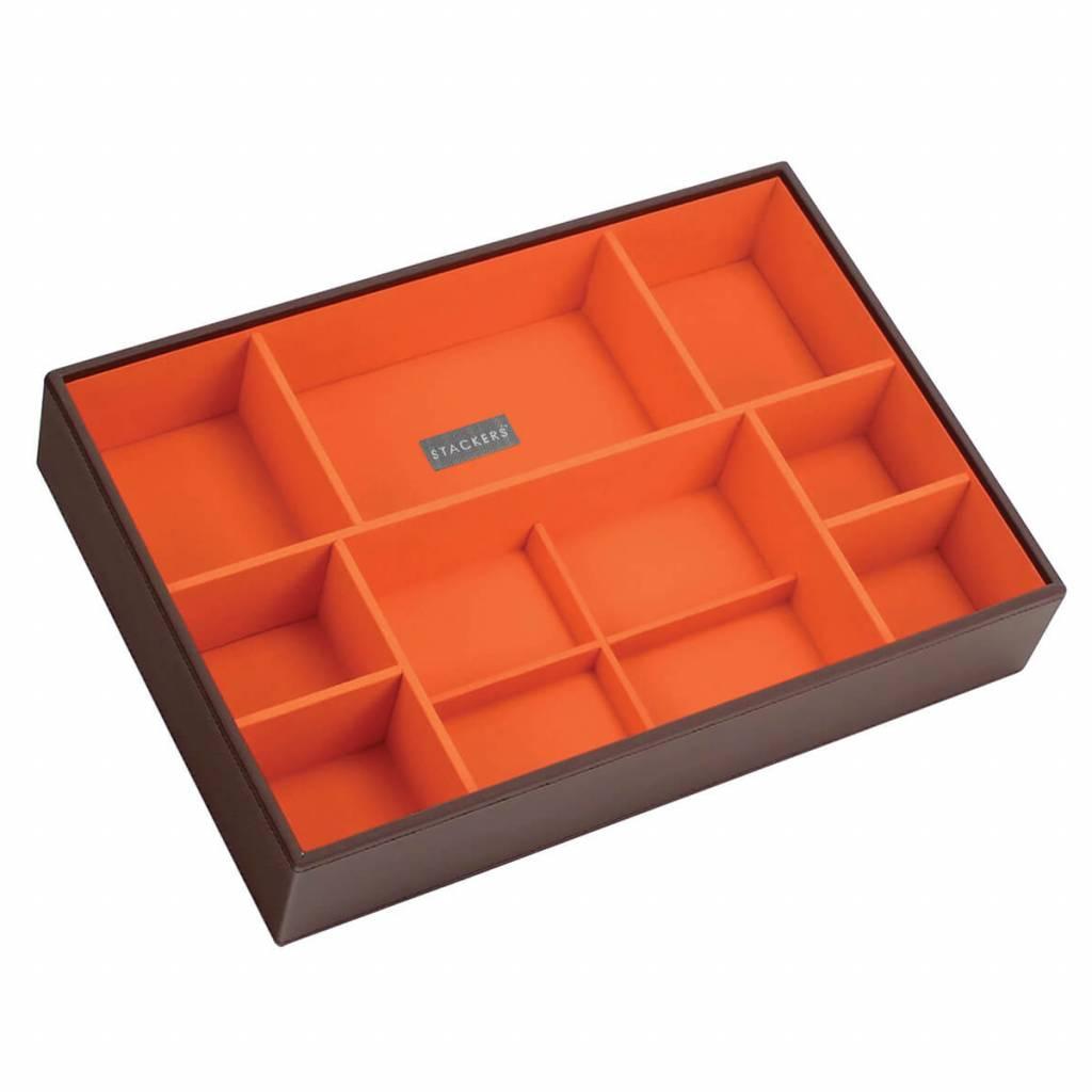 Sieradendoos Chocolate Brown Supersize 11-vaks voor horloges/accessoires