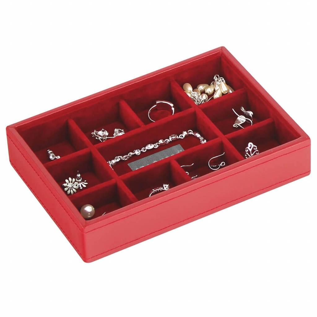 Sieradendoos Red Mini 11-vaks voor horloges/accessoires
