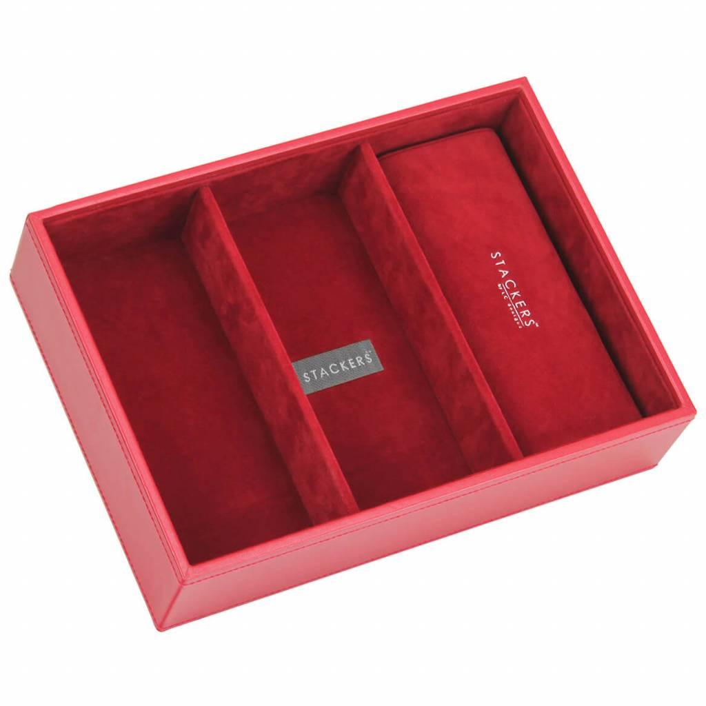 Sieradendoos Red Classic 3-vaks voor horloges/accessoires