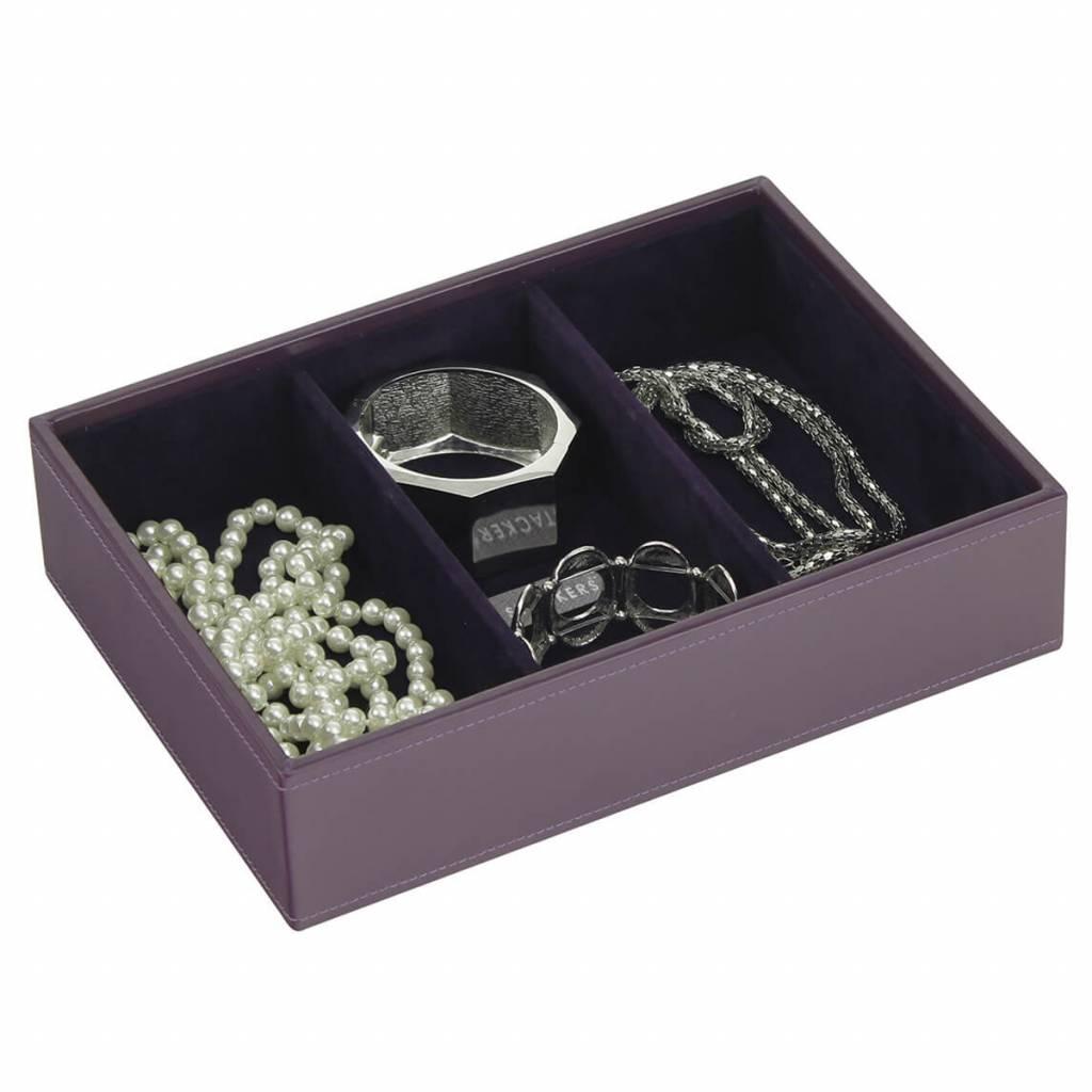 Sieradendoos Purple Classic 3-vaks voor horloges/accessoires