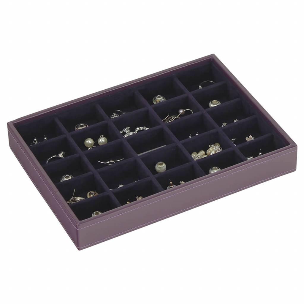 Sieradendoos Purple Classic 25-vaks voor kleine accessoires