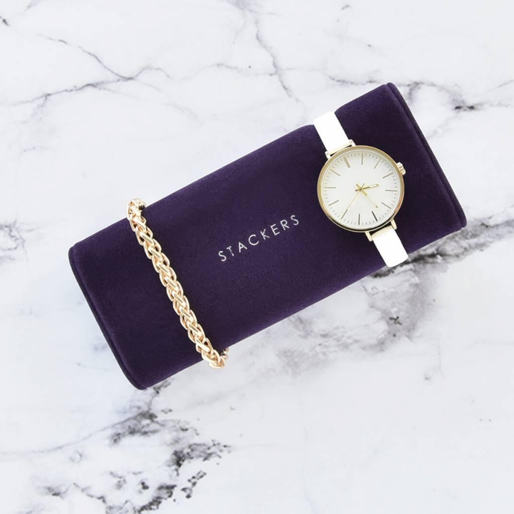 Schmuck-/Uhrenbox Purple uhr/armbandhalter