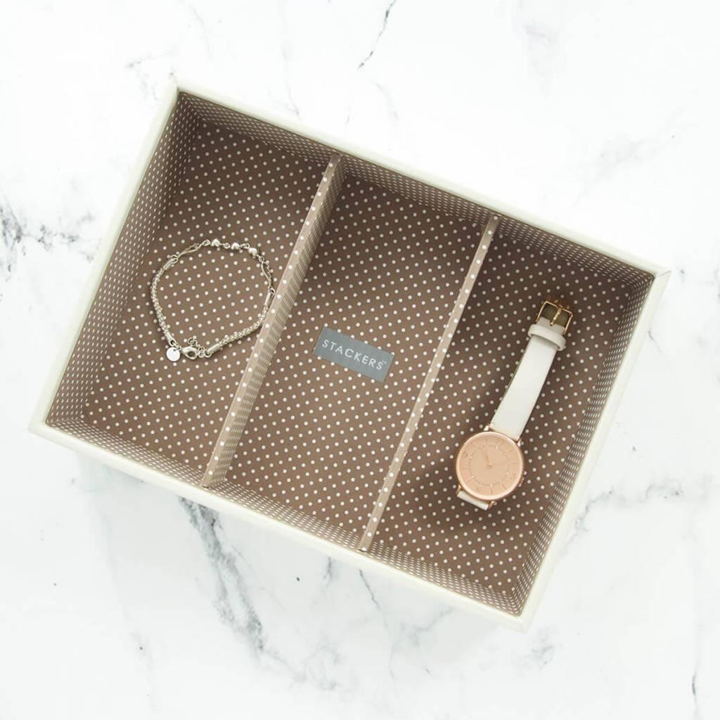Sieradendoos Vanilla Classic 3-vaks voor horloges/accessoires