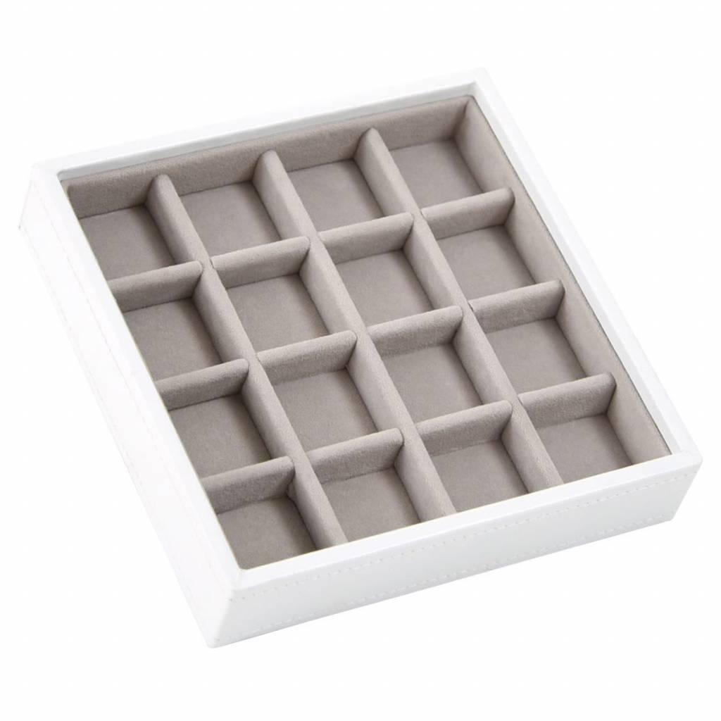 Charm Box Weiß 16 Fächer