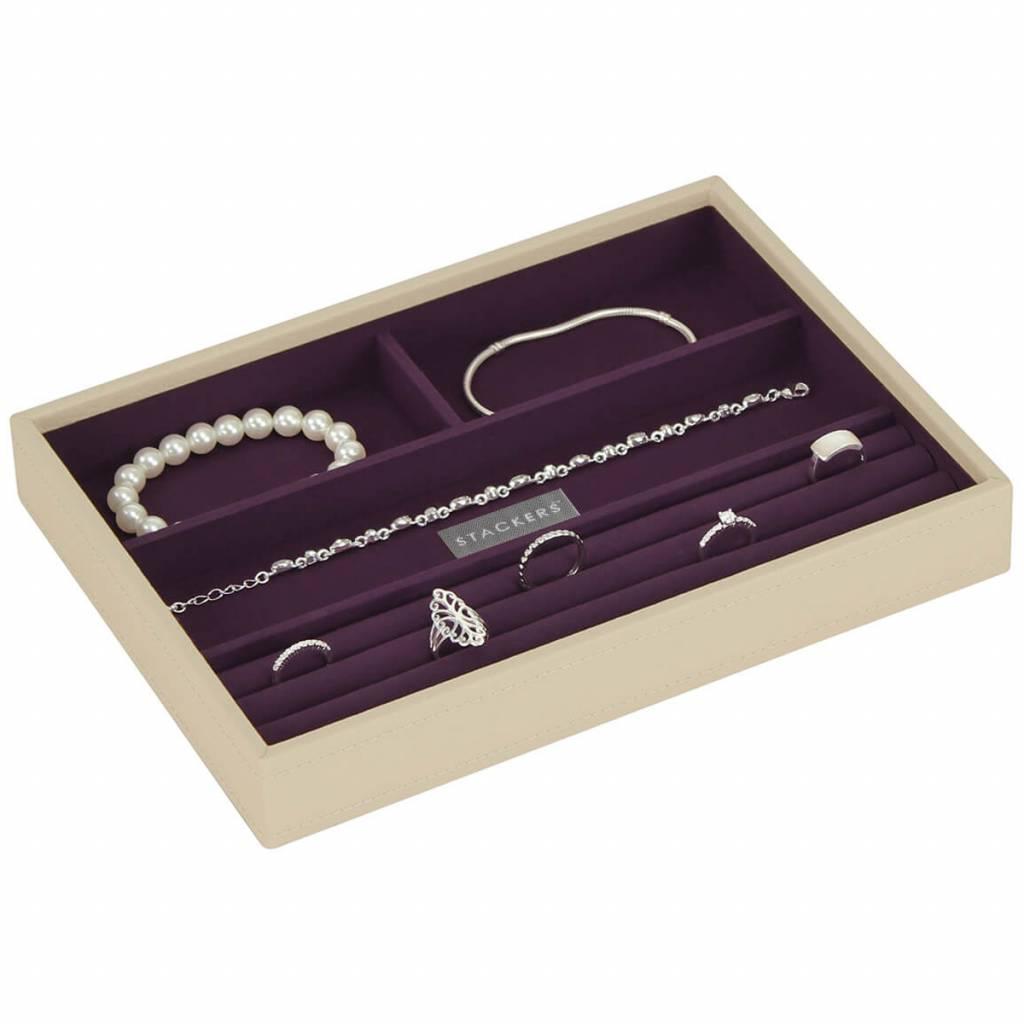 Sieradendoos Cream Classic 4-vaks voor ringen en armbanden