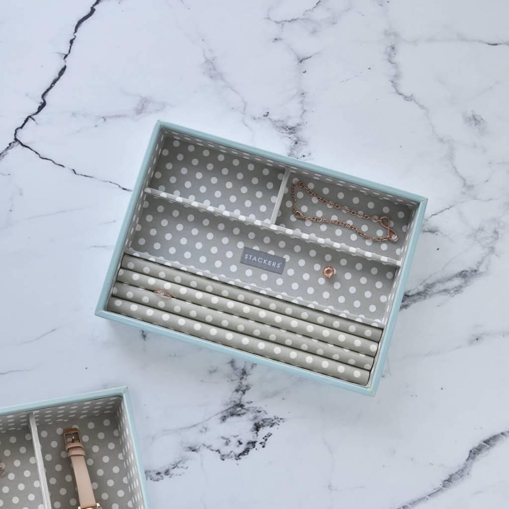 Sieradendoos Duck Egg Classic 4-vaks voor ringen en armbanden