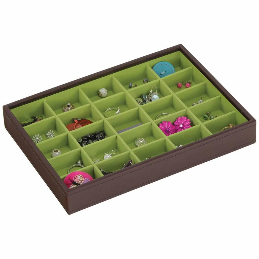 Sieradendoos Chocolate Brown Classic 25-vaks voor kleine accessoires