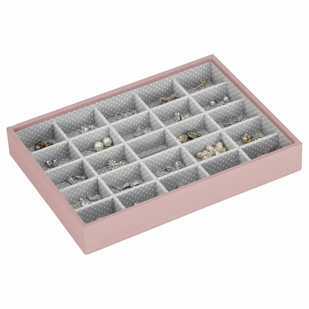 Schmuckschatulle Soft Pink Classic 25 Fächer für kleine Accessoires