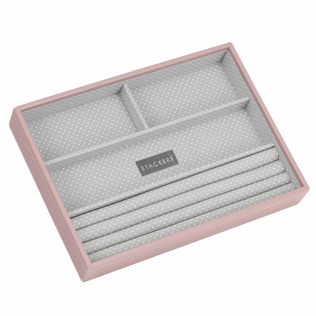 Sieradendoos Soft Pink Classic 4-vaks voor ringen en armbanden