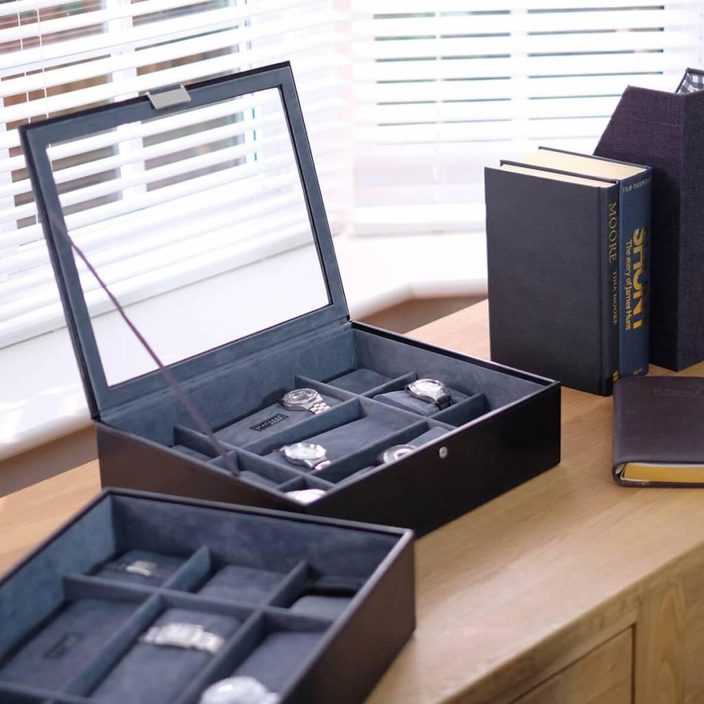 Black XL horlogedoos 30 pcs set
