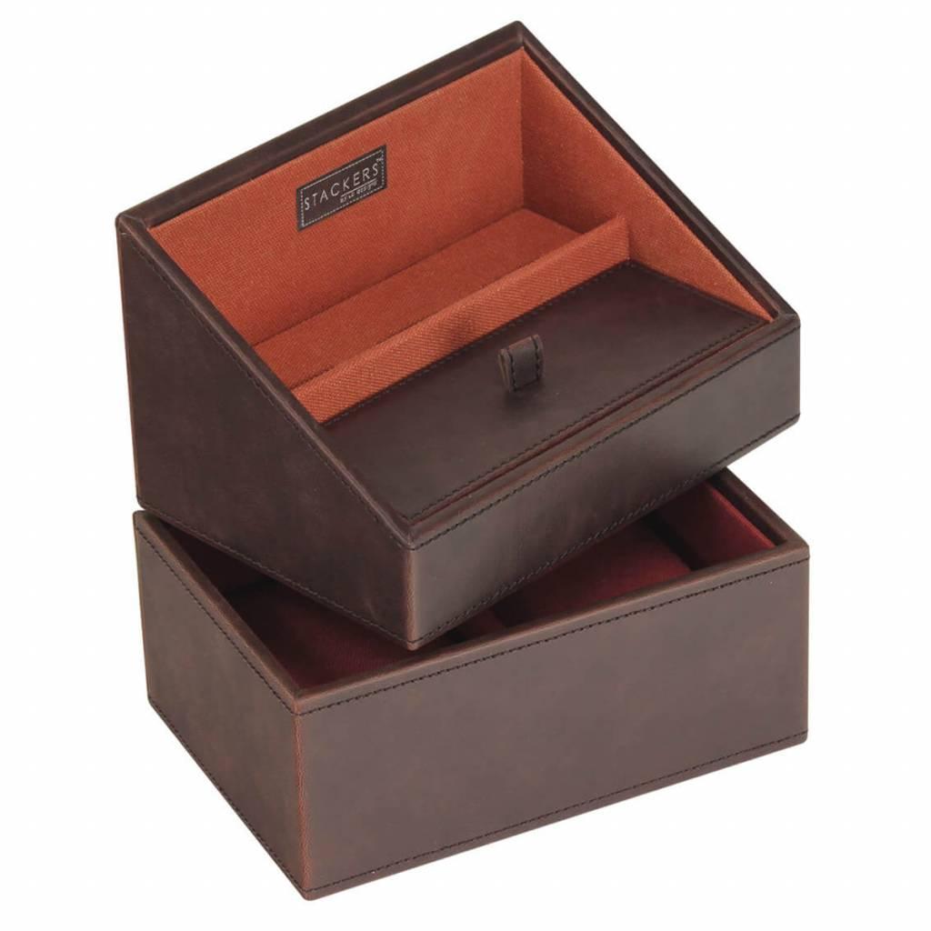 Vintage Brown Mini set telefoonhouder & horlogedoos