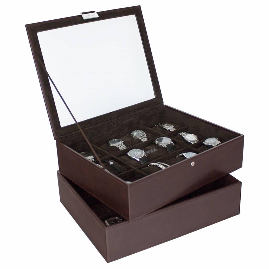 Chocolate Brown XL set horlogedoos 30 pcs