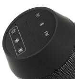 AEC AEC Multifunctionele Bluetooth LED Speaker - Zwart