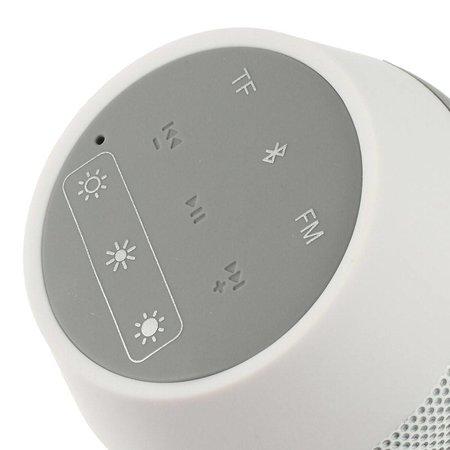 AEC AEC Multifunctionele Bluetooth LED Speaker - Wit