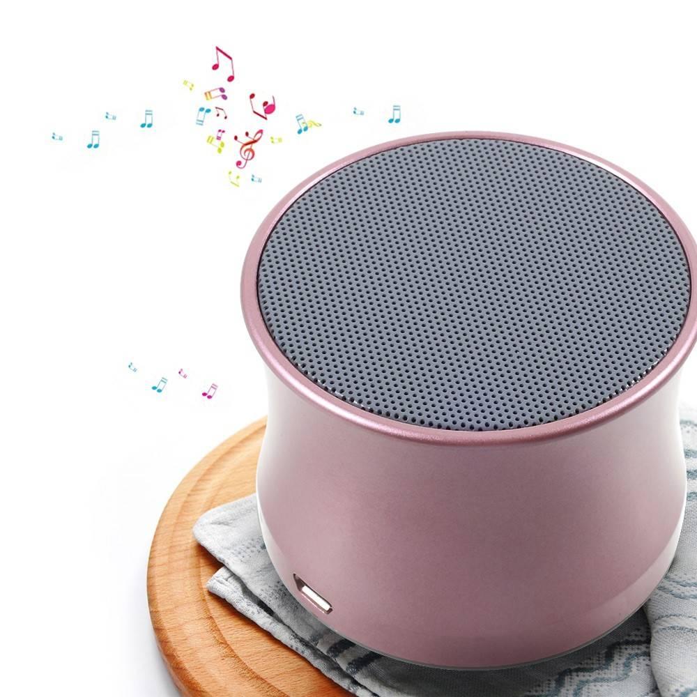 Mini Metalen Bluetooth Speaker - Roze