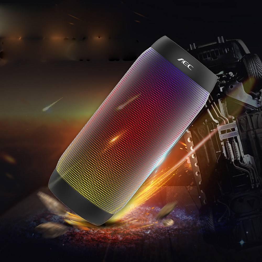 AEC AEC Speaker Kleurrijk LED Bluetooth 3.0 HiFi Stereo Speaker - Zwart