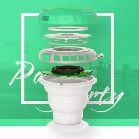 Rockspace Rockspace Bluetooth Speaker Waterbestendig met Karabijnhaak - Groen