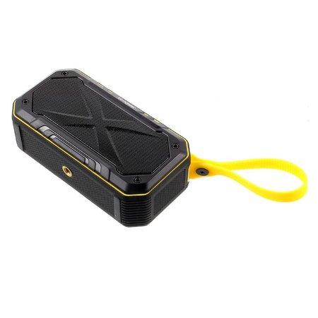 W-King W-King S18 Waterbestendige Speaker Bluetooth Speaker - Zwart / Geel