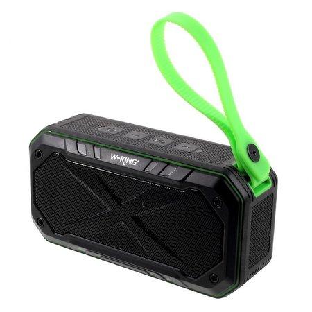 W-King W-King S18 Waterbestendige Speaker Bluetooth Speaker - Zwart / Groen