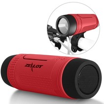 Bluetooth Fietsstuur Speaker met Flashlight en Power Bank - Rood