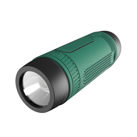 Zealot Zealot Bluetooth Fietsstuur Speaker met Flashlight en Power Bank - Groen