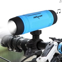 Bluetooth Fietsstuur Speaker met Flashlight en Power Bank - Blauw