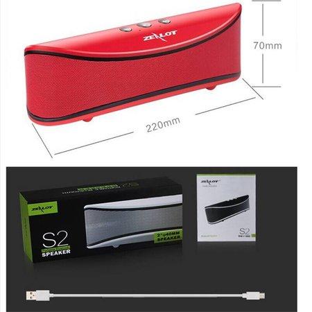Zealot Zealot S2 Bluetooth Speaker met Sterke Accu - Rood