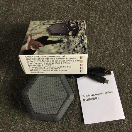Hexagon Design Waterbestendige Bluetooth Speaker - Zwart