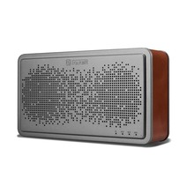 Genuine Lederen Beklede Bluetooth Speaker - Donkerbruin