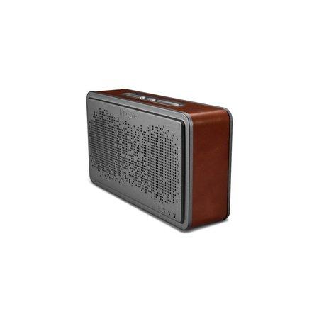 Icarer Icarer Genuine Lederen Beklede Bluetooth Speaker - Donkerbruin