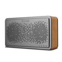 Genuine Lederen Beklede Bluetooth Speaker - Bruin