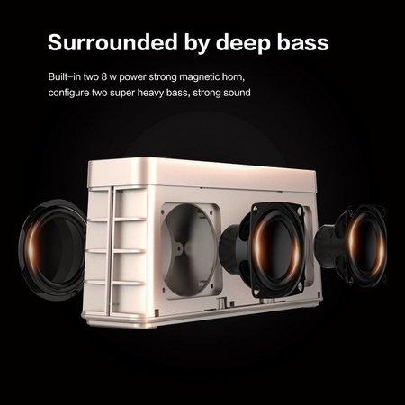 Monpos Monpos C6 Mesh Design Bluetooth 4.2 Hifi Speaker - Zwart
