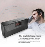 Monpos Monpos C2 Mark II Mesh Alarm Klok Bluetooth 4.2 Speaker - Zwart